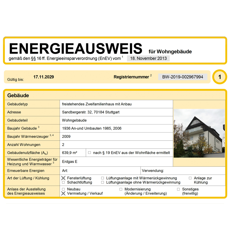 Energieausweis 1